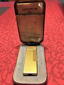 Dunhill Feuerzeug Rollagas Lighter gold