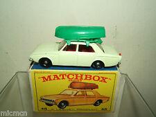 MATCHBOX Lesney modello No.45b FORD CORSAIR con barca Nuovo di zecca con scatola