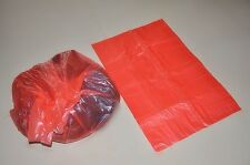 200 laundry bags red disposable with water soluble dissolvable dissolving strip