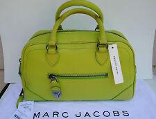 NEW $1495 Marc Jacobs Acid Neon Small Venetia Satchel Leather Lime Fun