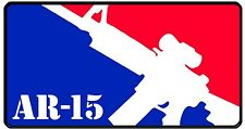 "3.25"" MAJOR LEAGUE AR-15 Sticker. USA Military Soldier .223 Rifle 5.56mm Laptop"