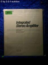 Sony Bedienungsanleitung TA F110 / F210 Stereo Amplifier  (#0377)
