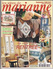 Les idées de Marianne N°42 Septembre 1998 point de croix , tricot