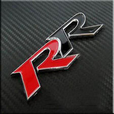 RR Red Black Sticker Chrome 3D Audi Racing Sticker Car Honda Civic CRV Punto