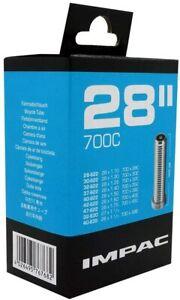 "Impac 28"" 700c x 28/35/45 Bike Inner Tube 27x1 1/4 Schrader Car Type Valve"