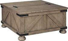 Signature Design By Ashley - Aldwin Farmhouse Storage Coffee Table, Brown Pine W
