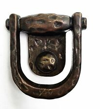 """1 3/4"""" center Rustic Arts & Crafts. Antique Hardware Brass Drawer Pull Ring"""
