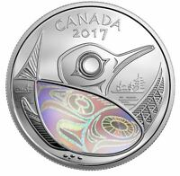 2017 $20 99.99% 1oz FINE SILVER HOLOGRAM COIN CANADA PROTECTING OUR FUTURE