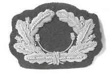 German Army Officers Aluminium Bullion Heer Wreath WW2 Visor Cap Hat no Cockade