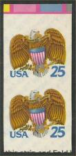 """2431c - XF-SUP Imperf Error / EFO Pair """"Eagle & Shield"""" Mint NH Cat $200+"""