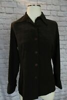 Express Womens Button Shirt brown Sueded Size Small, Blouse, jacket, blazer, top