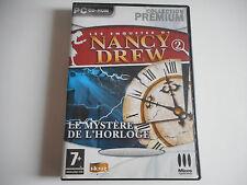 PC CD-ROM - LES ENQUETES DE NANCY DREW / LE MYSTERE DE L'HORLOGE - COMPLET