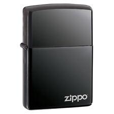 Zippo Black Ice Lighter w/ Zippo Logo Model 150ZL NEW