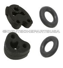 Mercedes w124 Exhaust Hanger KIT Muffler Center Donut Rubber Set of 4