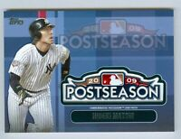 2018 Topps Update Postseason Logo Patch Relic Card-YANKEES. MATSUI-MINT