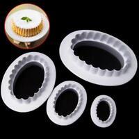 3D Oval Flower Cookie Cutter Mold Sugarcraft DIY Fondant Cake Baking Decor Tools