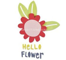 Fustella 5 fustelle thinlits fiori fiore flower hello Big Shot Sizzix 660805