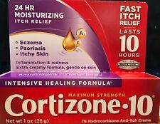 Cortizone 10 Intensive Healing Anti-Itch Cream 28 gram 1 oz Fresh Exp 2021