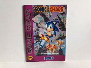 Sonic Chaos Sega Game Gear Manual Booklet Insert ONLY