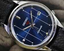 UNUSED SEIKO 5 AUTOMATIC DATE CAL.6309 MEN'S JAPAN OLD VINTAGE WRIST WATCH 17404