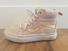 27ce8fb70ba8c4 VANS Kids SK8-Hi MTE Sepia Rose Metallic Gold Suede Sneakers GIRLS SZ 11.5