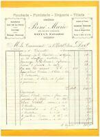"""BAYEUX (14) PLOMBERIE ZINGUERIE TOLERIE FUMISTERIE """"René MARIE"""" en 1934"""