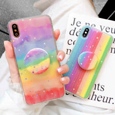 Rainbow Phone Case Cover For iPhone 6s 7 8 Plus XR 12 XS 11 Pro MAX Stand Holder
