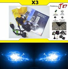LED Kit X3 50W 9003 HB2 H4 10000K Blue Head Light Two Bulbs High Low Beam Dual