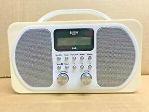 Bush Portable DAB RDS FM Radio Bluetooth Digital LCD Display Mains Battery Alarm