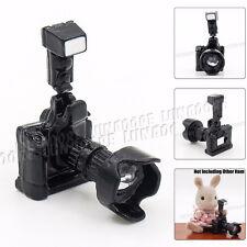 Black Digital Camera w/ Lens 1:12 Dollhouse Metal Miniature Accessory Decor Gift