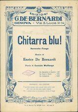 Spartito musicale Chitarra blu! Edizioni De Bernardi