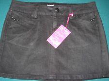 unique Candie's Size 0 Black Mini Short Skirt Abbey Road New round stud design