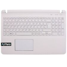 Replacement For SONY VAIO SVF1521P4E Laptop White Palmrest Cover + UK Keyboard