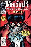 MARVEL COMICS PUNISHER WAR JOURNAL 6 WOLVERINE JIM LEE 1990 FINE OR BETTER