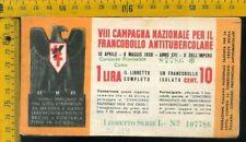 Libretto erinnofilo antitubercolare tv 174