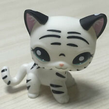 Custom OOAK LPS Short Hai Ca White Black Hand Painted LITTLEST PET SHOP