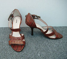 2088ccfc4dd0 J by Jasper Conran Brown Mock Croc Sandals Size 7