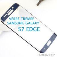Film verre trempé bleu intégral incurvé samsung galaxy S7 edge