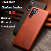 QIALINO Original Echtleder UltraDünn Cover Case Schutzhülle F Huawei P30/P30 Pro