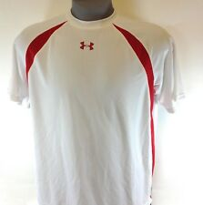 New Mens Under Armour White 1211436 102 Short Sleeve Synthetic Tee T Shirt
