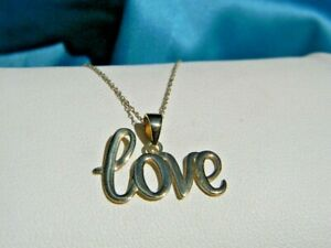 LOVE PENDANT NECKLACE 10K YELLOW GOLD