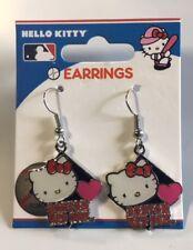 Hello Kitty Boston Red Sox Dangle Earrings NEW Jewelry - FREE U.S.A. SHIPPING