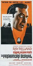 PREMATURE BURIAL Movie POSTER 20x40 Ray Milland Richard Ney Hazel Court Heather