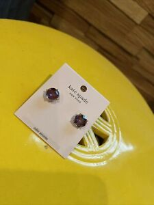 NWT kate spade bright ideas stud earrings in berry