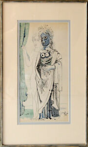 Byron Browne Original Figure Study Signed and Dated 1944