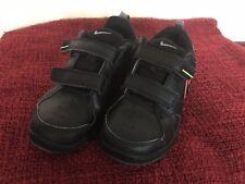 Nike Boys PICO 4 Leather Trainers, Size UK 1, Black !