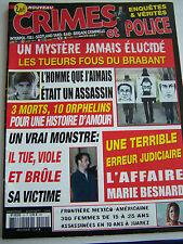 MAGAZINE CRIMES ET POLICE , ENQUETES ET VERITES . N° 10 .