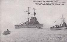 * WWI - Surrender of German Fleet - King's visit to the Queen Elizabeth