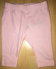 Baby girls pink trousers for 0-3 months from F&F - excellent condition