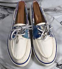 Tommy Hilfiger Canvas Shoes White w/ Plaid size 8.5M